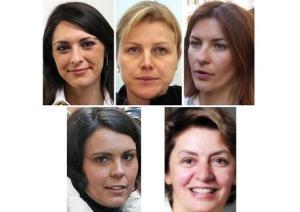combo Renzi le 5 donne cndidate pd