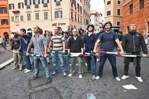 Roma - Scontri Studenti