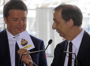 Matteo Renzi e Giuseppe Sala