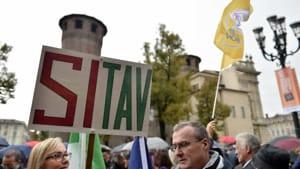 Torino Sit in Si Tav piazza Castello 3 nov 2018 11-2