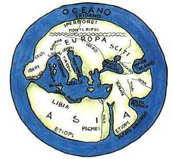 La mappa di Ecateo V-VI secolo ac