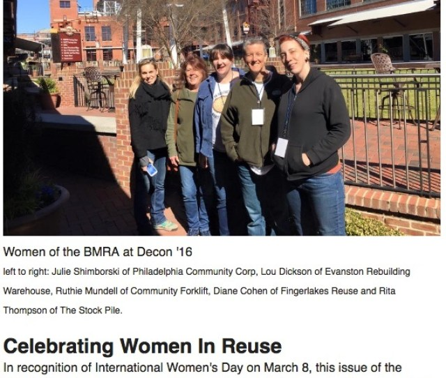 Hear Hear For Women In Deconstruction And Reuse Bmra Honors International Womens Day