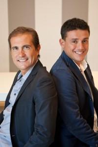 Il presidente Danilo Caruso e l'Ad Alessio Matrone