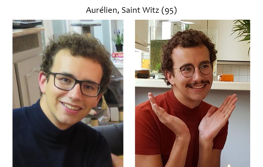 Aurelien, avant et après la pousse de sa barbe