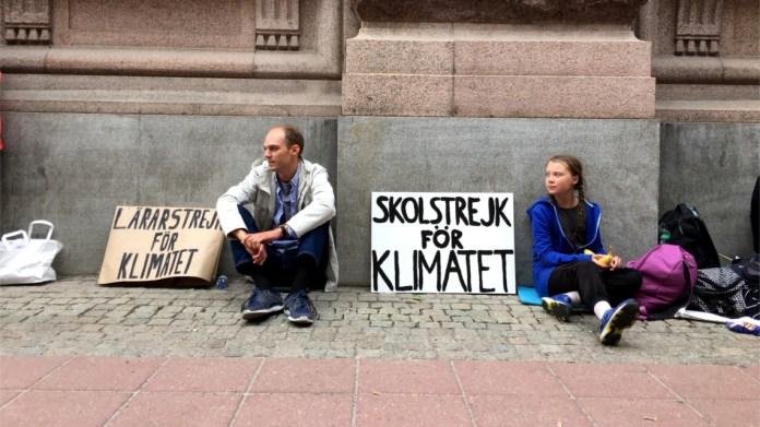 Anche il prof con Greta per il clima