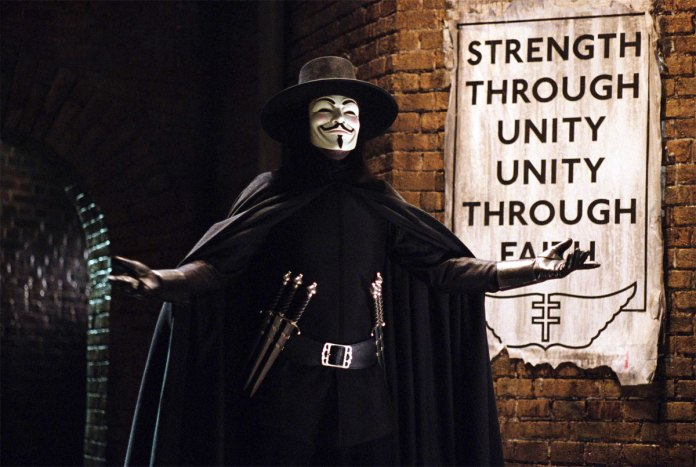 Rally around the flag effect e v for vendetta