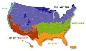 Zone climatiche degli Usa