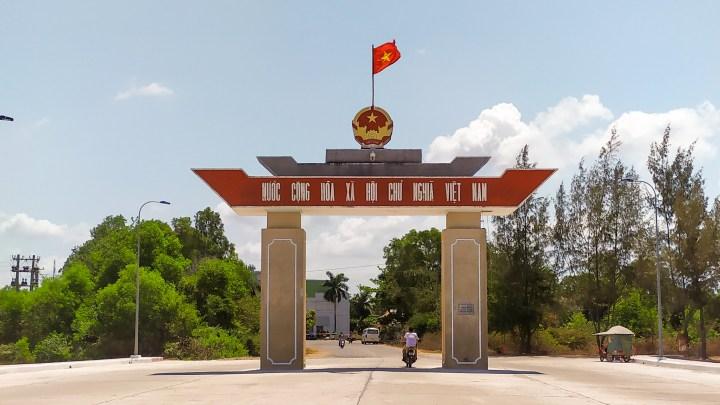 Poste frontière entre le Cambodge et le Vietnam