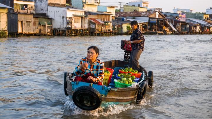 Sur le Mékong au Vietnam