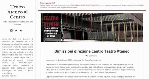 teatro Ateneo appello