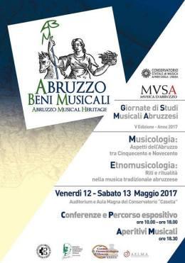 Abruzzo beni musicali 2017