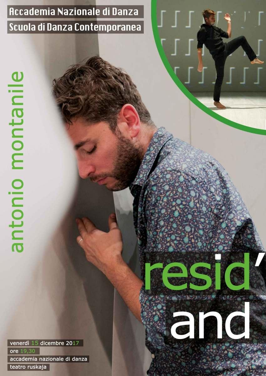 Nuovo appuntamento di Resid'AND con Antonio Montanile