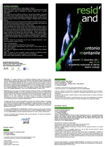 Resid'AND Antonio Montanile programma