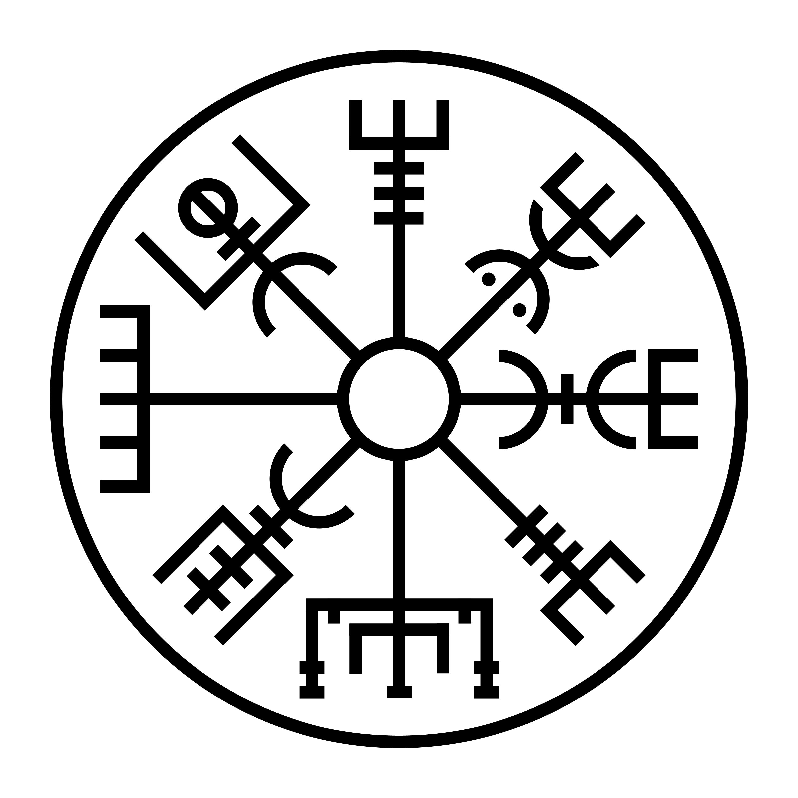 Vegvisir Il Compasso Runico