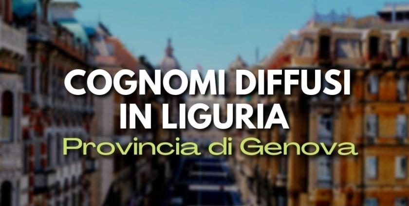 Cognomi di Genova