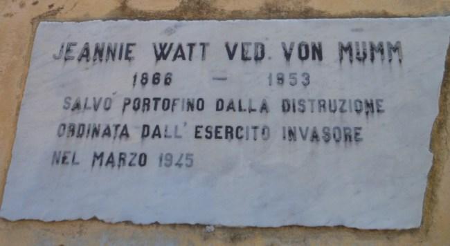 Portofino, Baronessa Jeannie Watt Von Mumm