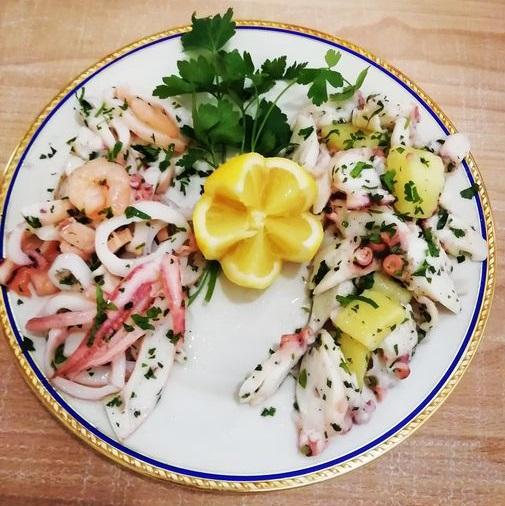 Insalata di mare, ricetta ligure