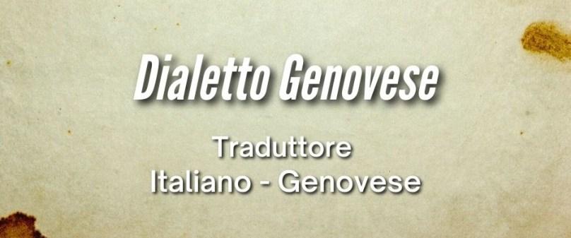 Dialetto Genovese