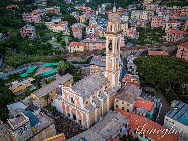Moneglia, veduta di Santa Croce dall'alto