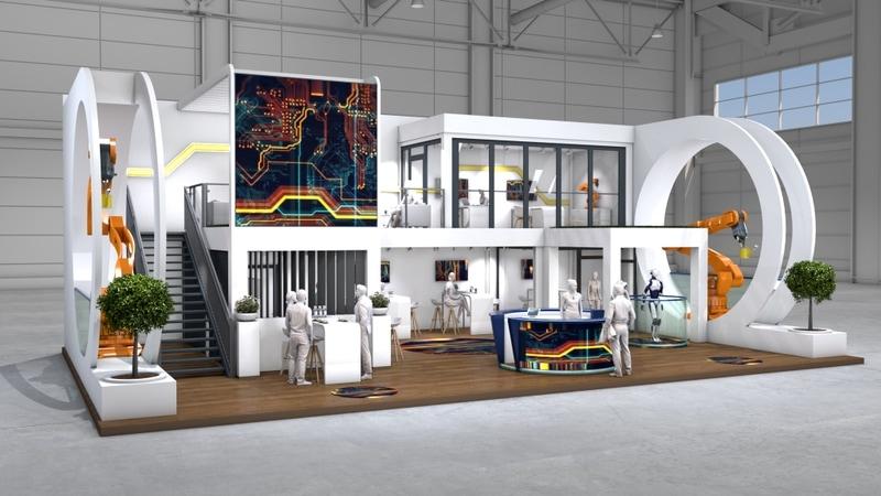 Выставочный модуль из контейнеров