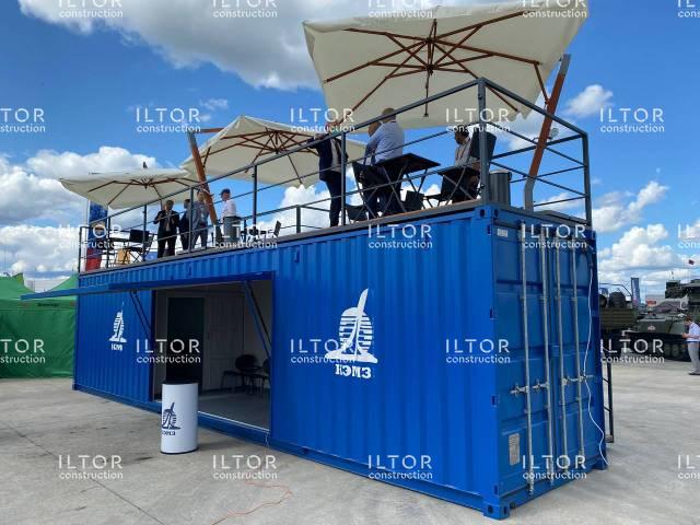 Выставочный стенд из 40 футового морского контейнера