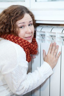 Donna radiatore freddo