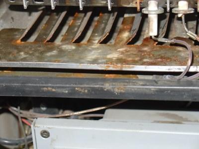 corrosione bruciatore caldaia