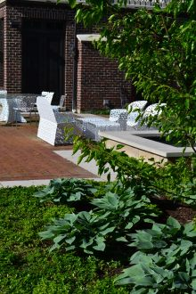 Clay brick pool deck