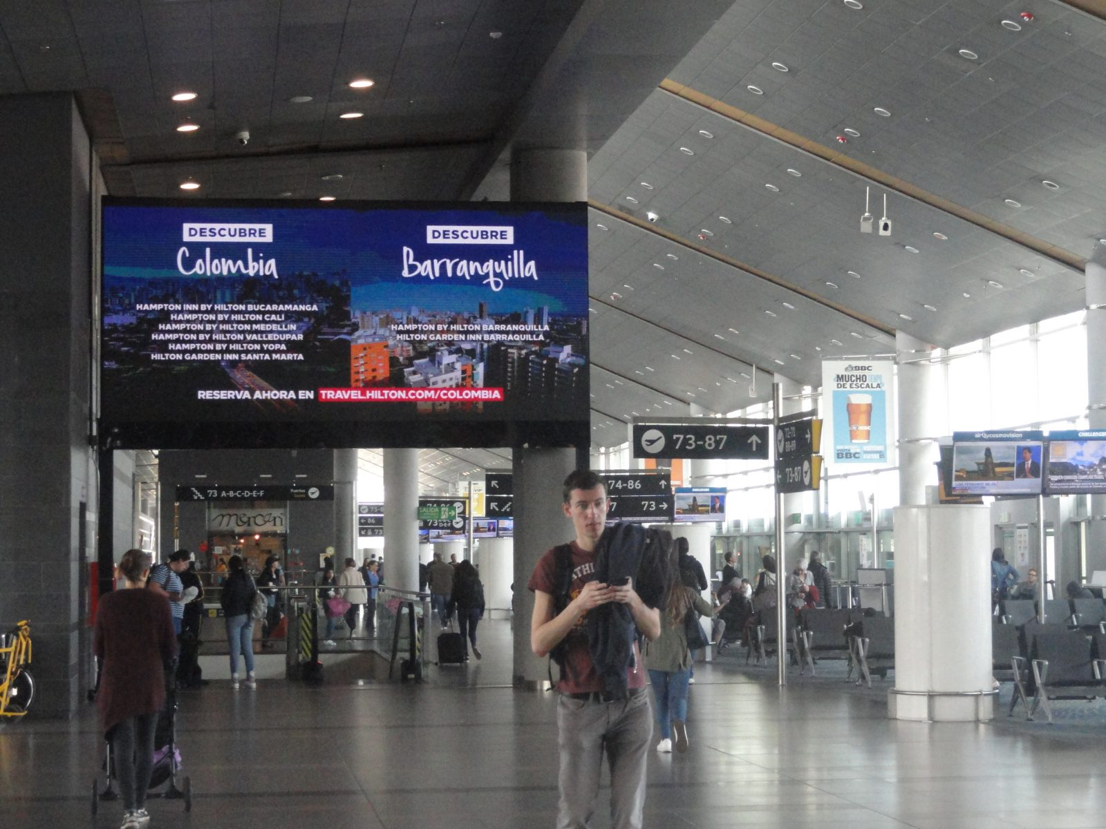 """Portão sala espera Aeropuerto """"El Dorado"""" Bogotá Colômbia 26"""