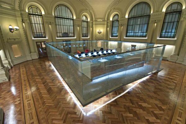 Salón Fundadores de La Biblioteca Nacional de Chile