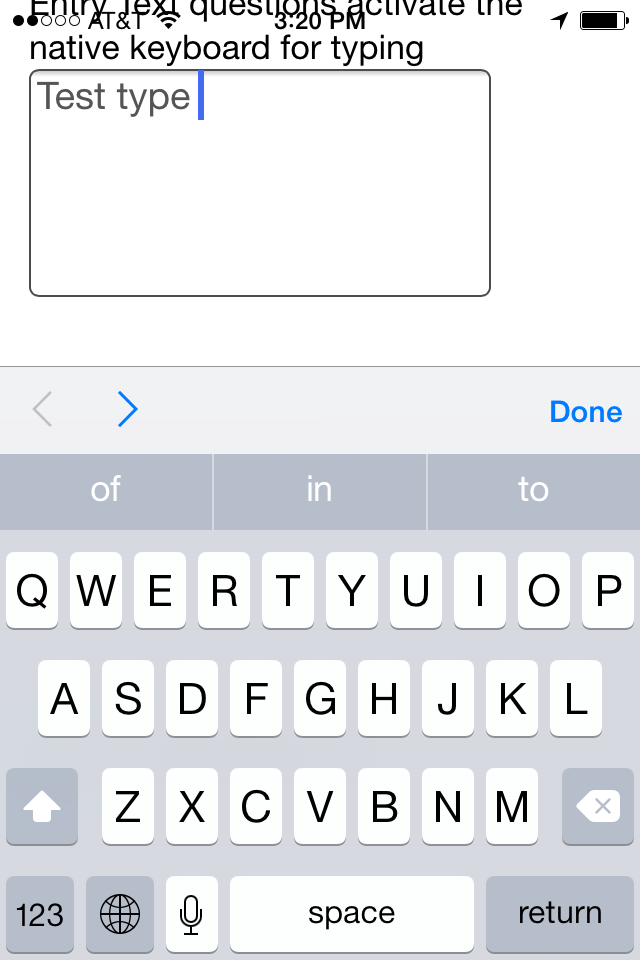 Free text entry