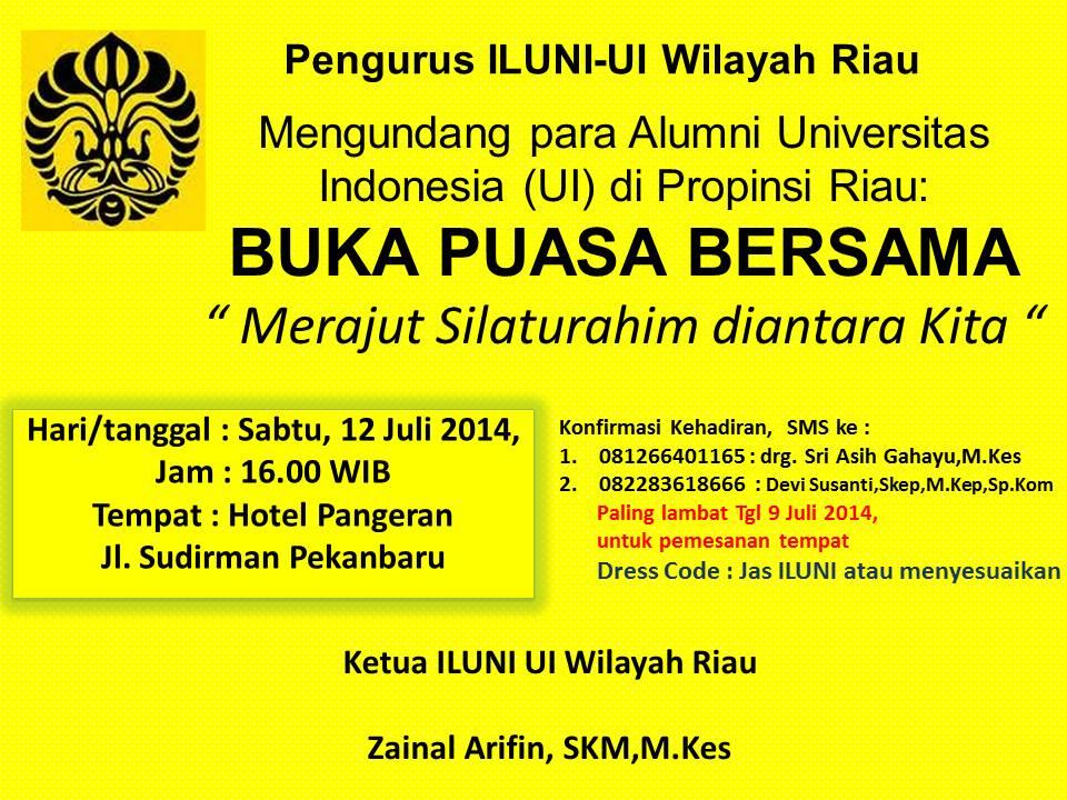 Undangan Buka Puasa Bersama Iluni Ui Riau Ikatan Alumni