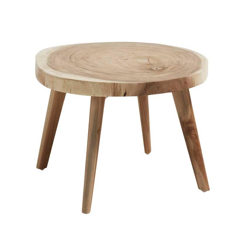 en coffee table natural munggur pt mesa de centro madeira mungur