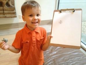 He drew the eraser.