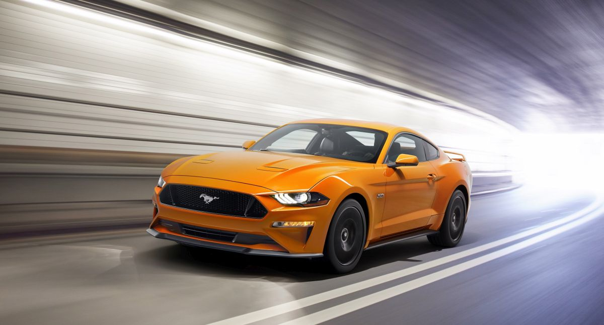 2018 Ford Mustang V8 GT with Performance Package in Orange Fury