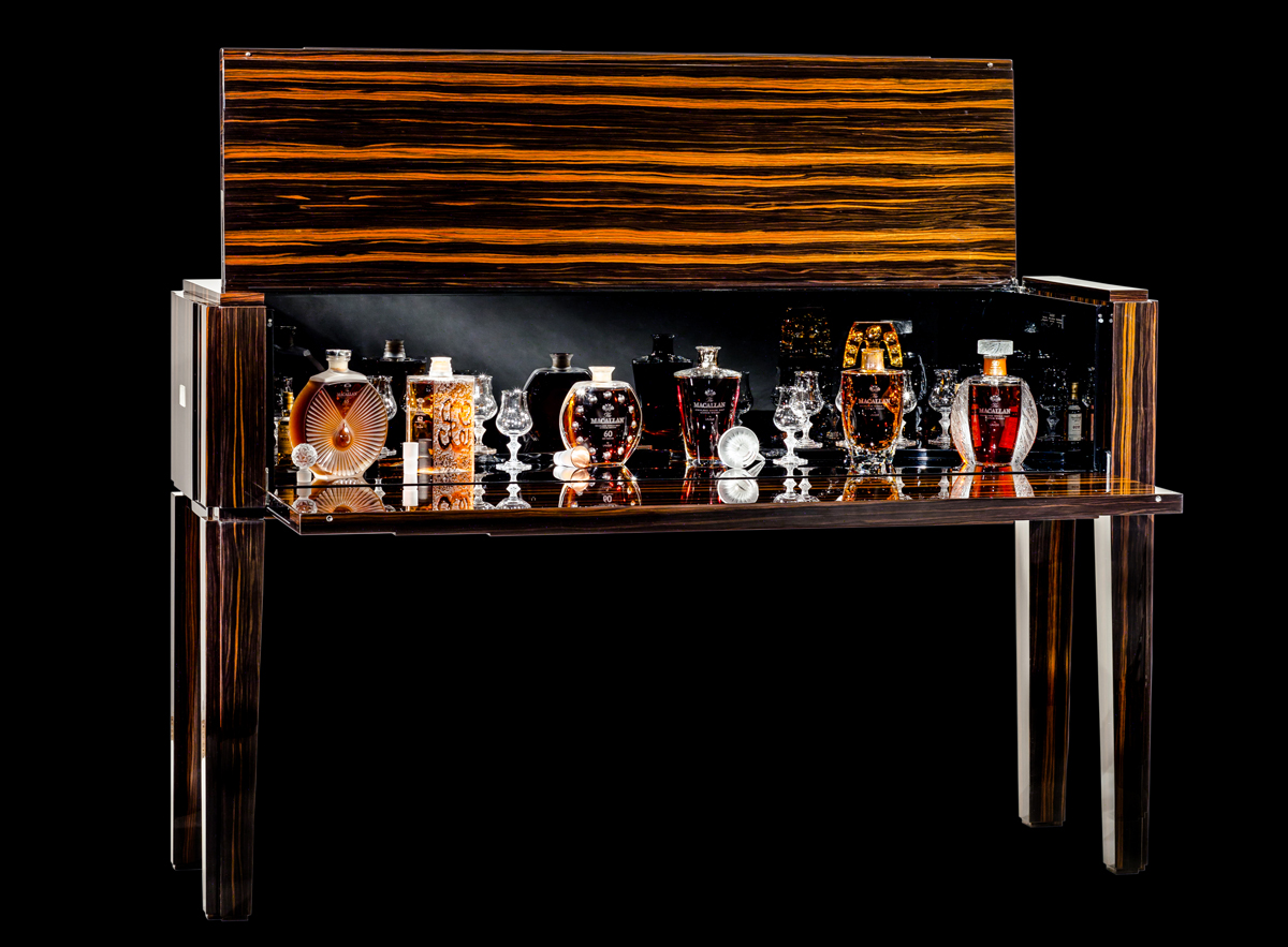 The Macallan Six Pillars collection in Lalique