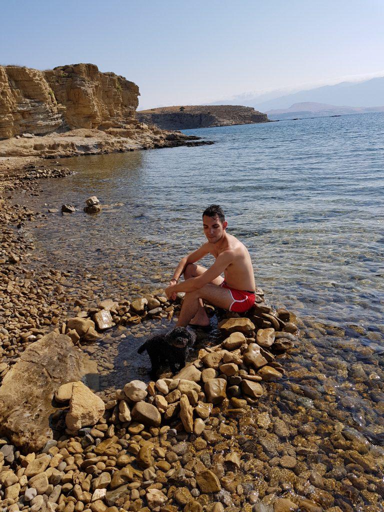 La spiaggia Kaštelina di Rab