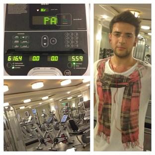 You rock, Piero; @barone_piero Instagram Piero working out the jet lag. San Franciso