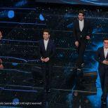 Elio D'Axcenzo - Photographer 8 Ilk Volo reacts to Standing O Sanremo 2015