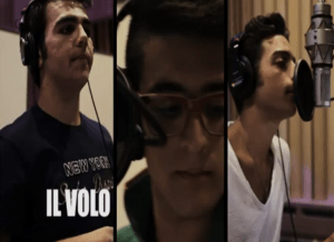 I.V. FC Mexico. Il Volo - in the recording studio