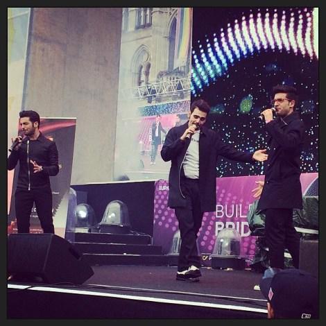 @fededotcom2 informal performance Eurovision 2015 - Rathousplaz, Vienna, May 20, 2015