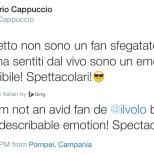 original tweeter noted; LiJoy They have that effect! Comment about Pompeii Concert - June 2015