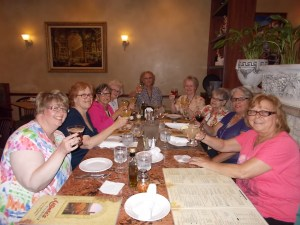 A toast to The Boys - Jana, Chris,  Donna, Mary, Marie, Jane, Allene, Ginny, Marie's sister Debbie