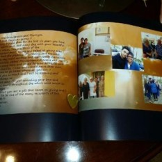 finished book 2 Keepsake Book messages and photos
