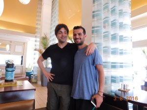 Patricio (?) and Fabio at the Hyatt