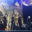 @valeria_cito Il Volo and Maestro Domingo appear on stage Magica Notte Concert 7/1/16