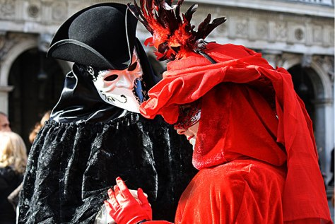 In 1582 Pope Gregory XIII declared Carnevale a Christian holiday, but with the appearance of the mask, Venetian celebrations of the 18th century became known for being anything but pious. Photo by doryx