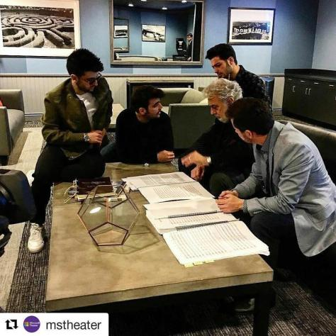 getting ready for the show