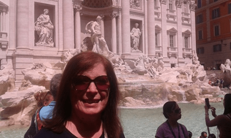 Daniela at Trevi Fountain