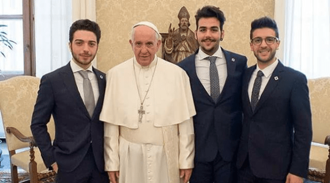 IL VOLO SINGS FOR POPE FRANCIS by Daniela